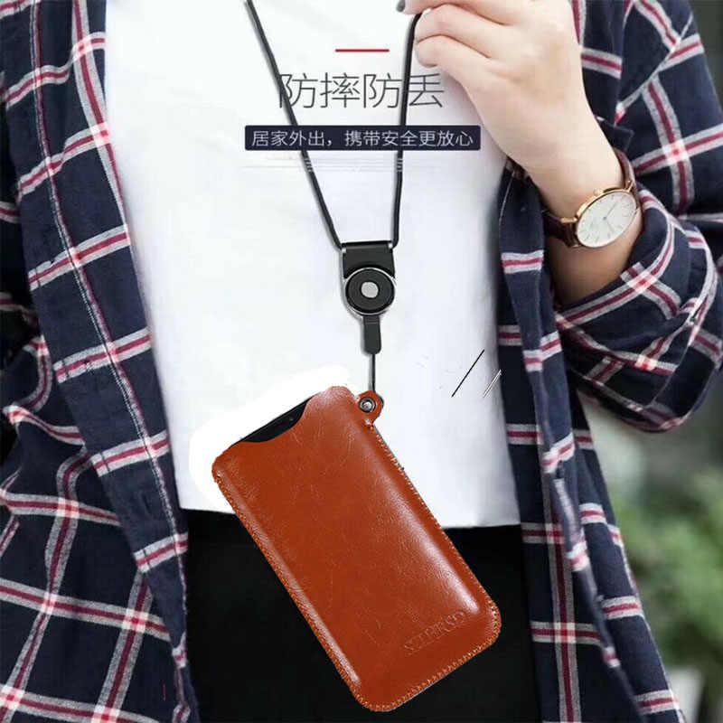 SZLHRSD para Bluboo D5 Pro caso Oppo A75S de la bolsa del teléfono móvil Bluboo S3 Venta caliente slim manga bolsa cubierta + cordón