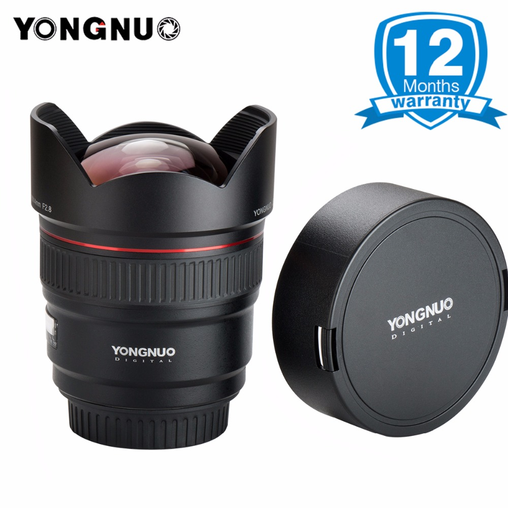 Presell YONGNUO 14mm F2.8 Ultra-Grand Angle Premier Objectif YN14mm Mise Au Point Automatique AF MF Métal Monture pour Canon 700D 80D 5D Mark III IV
