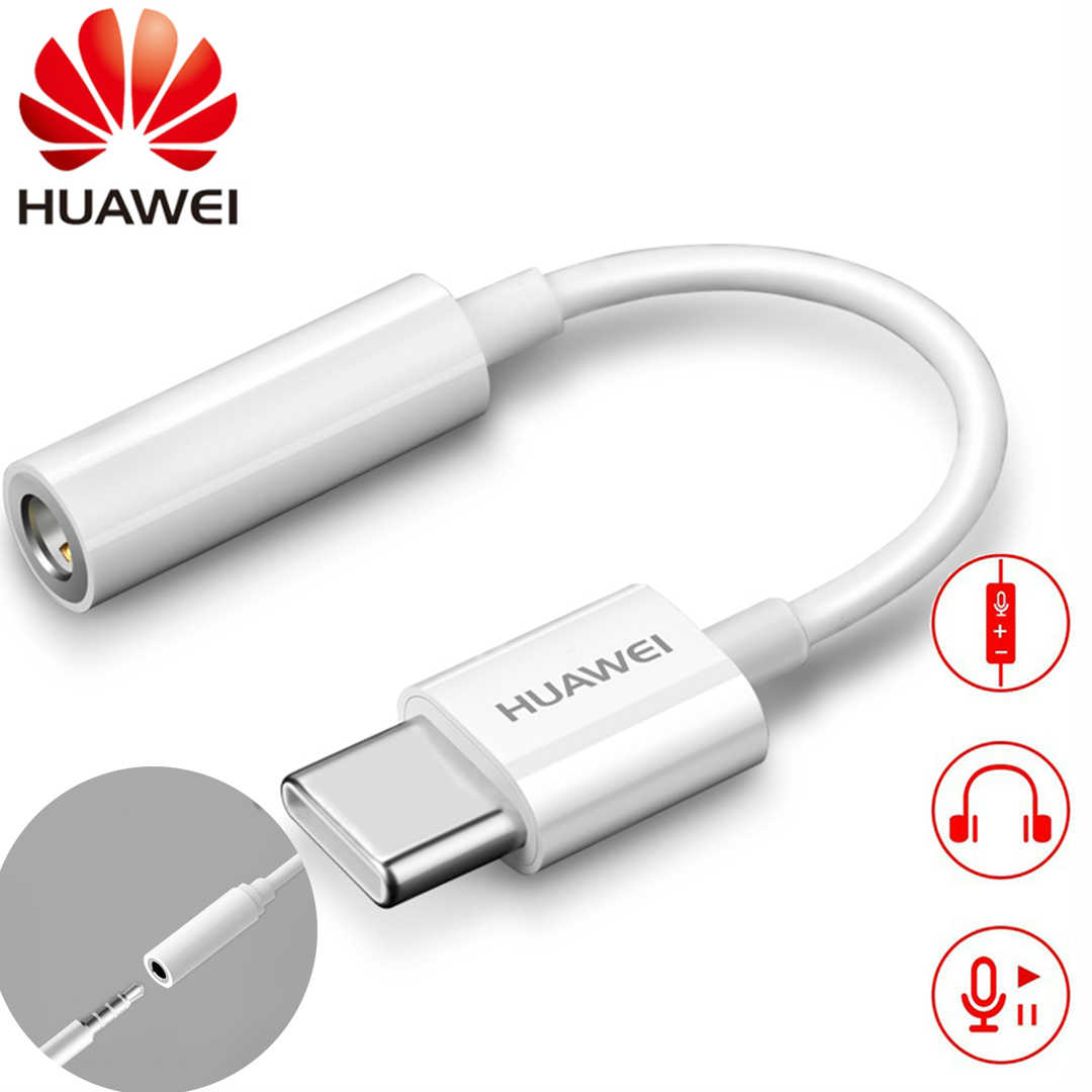 HUAWEI Type C 3.5 Jack Earphone Cable USB C to 3.5mm AUX Headphones Adapter For Huawei P10 P20 pro xiaomi Mi 6 8 Audio cable