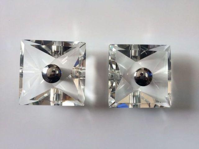 Praça de cristal ( 60 * 60 * 32 mm ) cabo de porta puxa 1 par