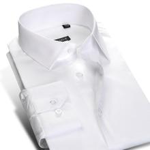Camisa de vestir de manga larga para hombre, resistente a las arrugas, con cierre de botones, algodón, clásica, Formal, trabajo de negocios, básica