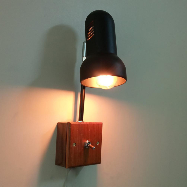 Vintage Wall Lamp Night Light Reading 220V E27 For Bedroom Bedside Livingroom Office