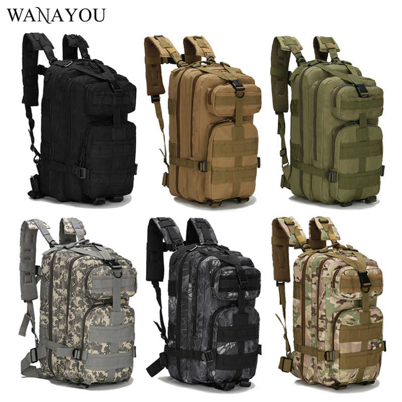 600D Nylon Army Tactical Backpack,Waterproof Molle Outdoor Climbing Bag,6Color Camping Hiking Hunting Military Backpack Rucksack