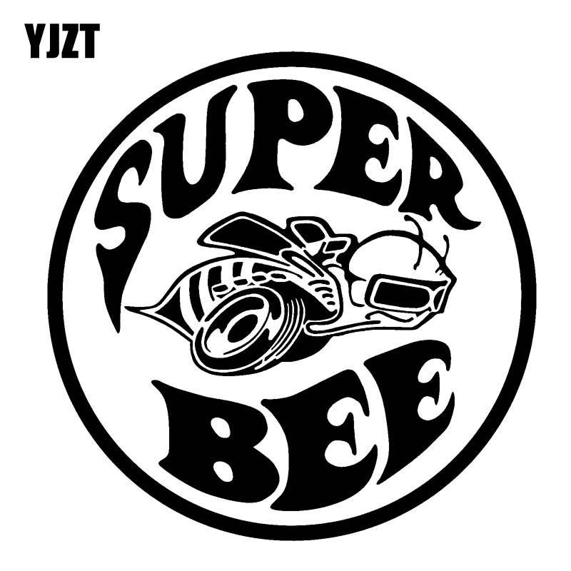 YJZT 15.2CM*15.2CM Super Bee Vinyl So Cool Car Sticker Decal Black/Silver C19-0038