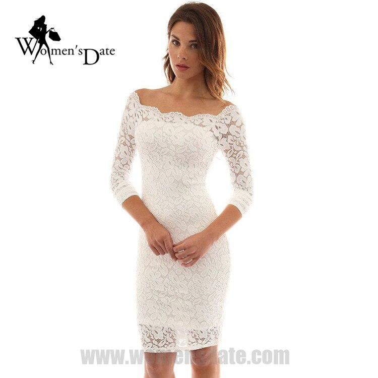 Popular Plus Size Black White Lace Dress-Buy Cheap Plus Size Black ...