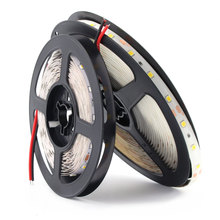 12 V Volt Strip Led Light PC Tape 2835 RGB Waterproof 1 - 5 M 12V DC 60LED/M Lamp Diode Flexible TV Backlight