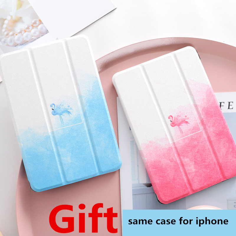 Simple Flamingo Magnet PU Leather Case Flip Cover For iPad Pro 9.7 10.5 Air Air2 Mini 1 2 3 4 Tablet Case For ipad 9.7 2017 mimiatrend tige for apple ipad air 1 2 air2 flip pu leather case smart cover for new ipad 9 7 2017 tablet case for ipad pro 9 7