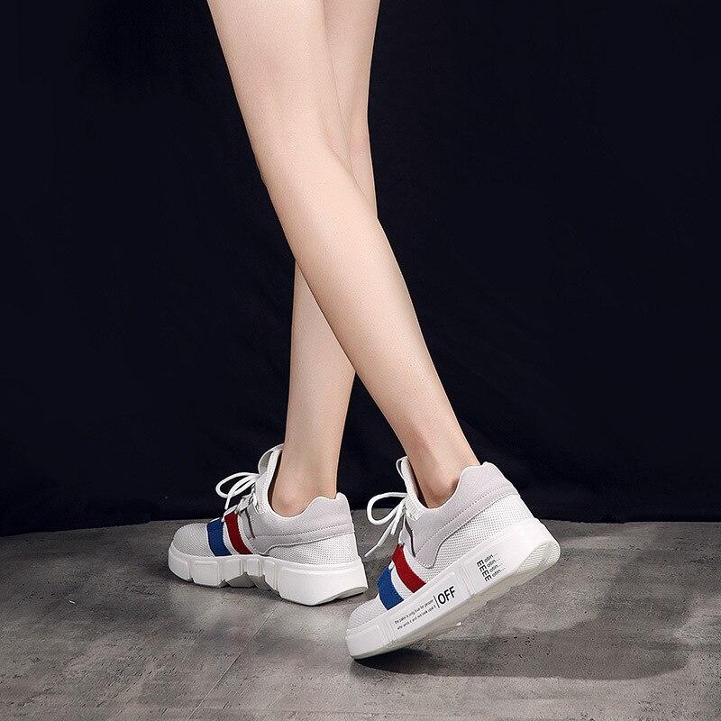 2018 Sauvages Noir forme De Blanc Respirant Chaussures Maille Automne Casual Sport Femmes Plate Occasionnels blanc Mode Des rwTOxrHqZv