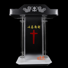 Lectern Pulpit Acrylic-Base Podium Fixturedisplays Construction Ghost W/clear 3-Tier