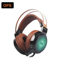 Colourful glow Gaming headset Over-Ear wired headphone with microphone stereo for PC pc