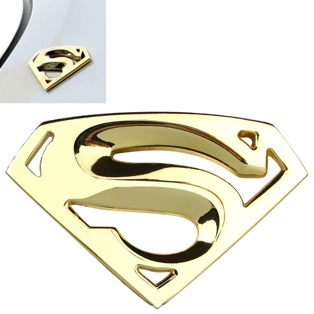 Superman Emblem Badge Logo Red Style Sticker Vheicle Motors Accessory Decoration