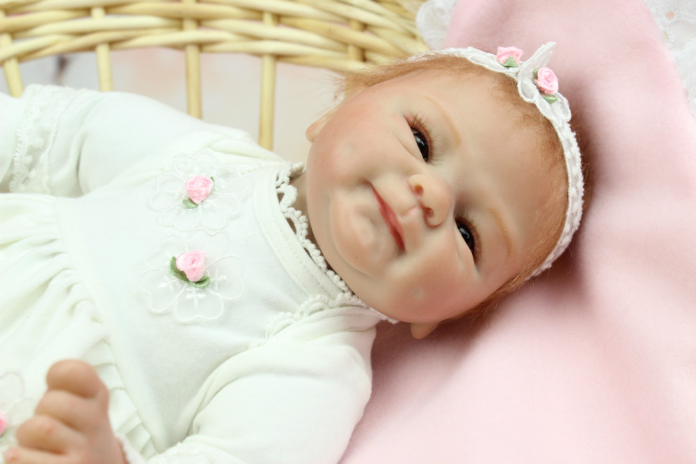 NPKCOLLECTION 40CM Soft Body Silicone Reborn Baby Doll Toy For Girls Vinyl Newborn Girl Babies Dolls