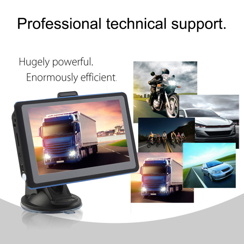 8G 5 Inch HD Display Cars Truck Vehicles GPS Sat Nav Navigation System Automobile Navigators Free Map Download ...