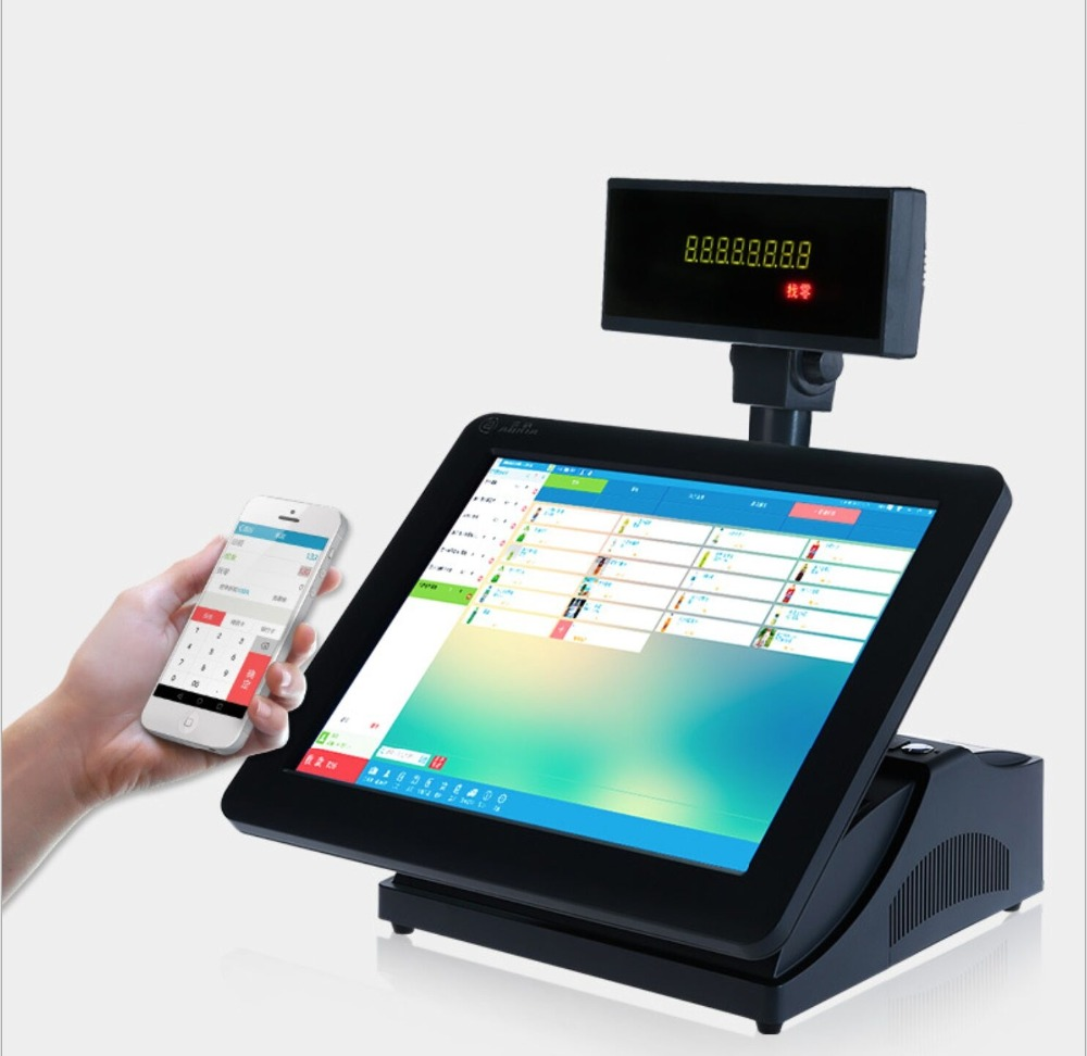 15 inch Touch Screen Intel POS System, Windows POS Device and Support Rear15 inch Touch Screen Intel POS System, Windows POS Device and Support Rear