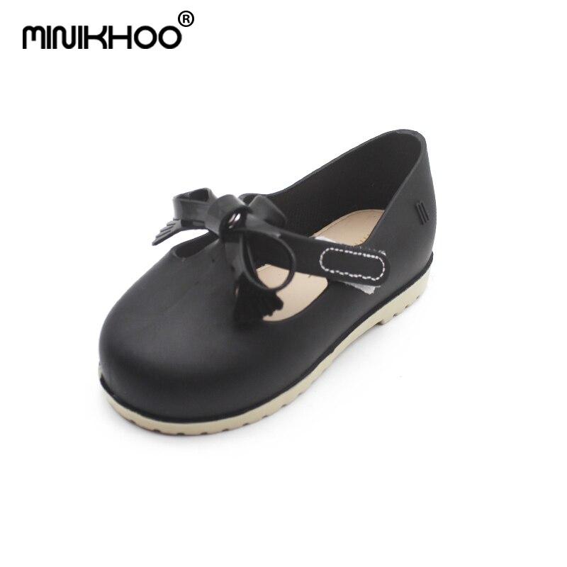 Mini Melissa 2018 Princess Sandals Jelly Shoes Autumn Children Soft Comfort Princess Shoes Melissa Girls Sandals Kids Sandals