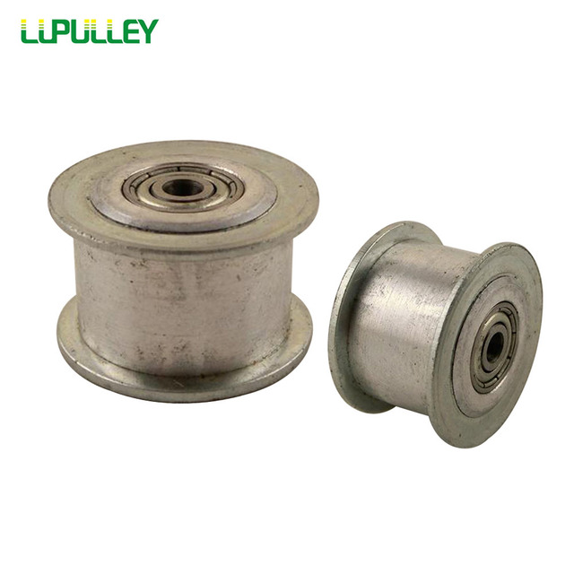 LUPULLEY 2pcs 20 Teeth 3M Idler Pulley Passive Pulley Bore 3/4/5/6mm for Width 10/15mm 3M Belt With Bearing No Teeth