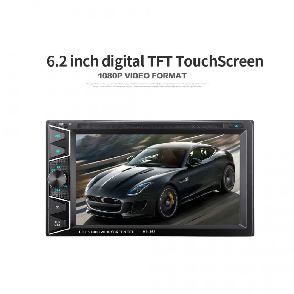 6.2 pouces 2 DIN Bluetooth HD écran tactile voiture dans Dash FM récepteur Radio lecteur DVD CD + télécommande sans fil