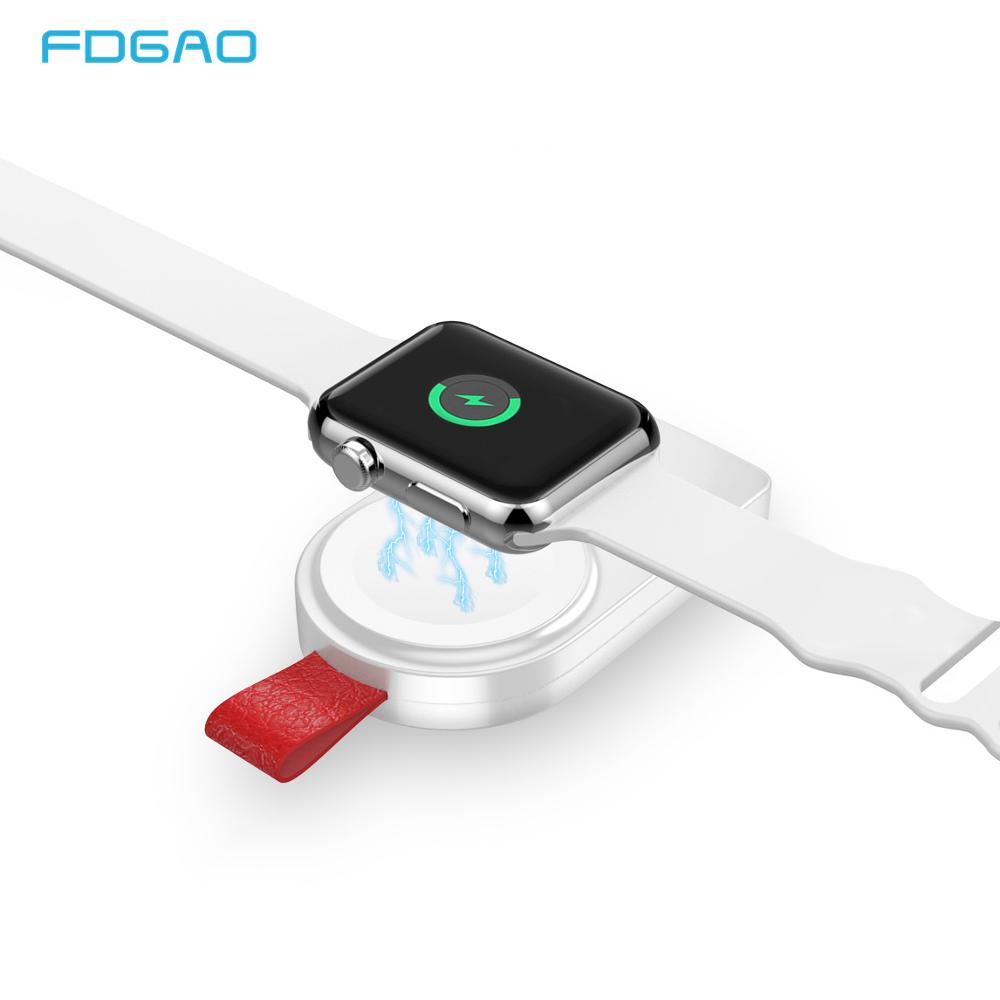 FDGAO Mini cargador inalámbrico portátil para apple Watch Series 4 3 2 1 Adaptador USB de almohadilla de carga rápida magnética para apple reloj