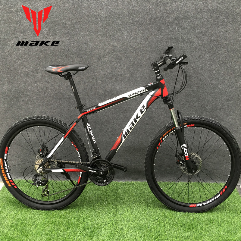 "Discount Mountain Bike MAKE 26"" 24 Speed Disc Brakes Aluminium Frame 3"