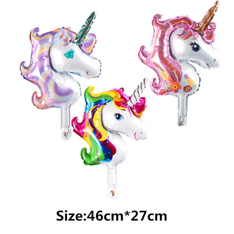 BINGTIAN Mini Animal Unicorn Mermaid Minnie Mickey Cake Love Balloons Children Toys Decoration Birthday Party Balloons