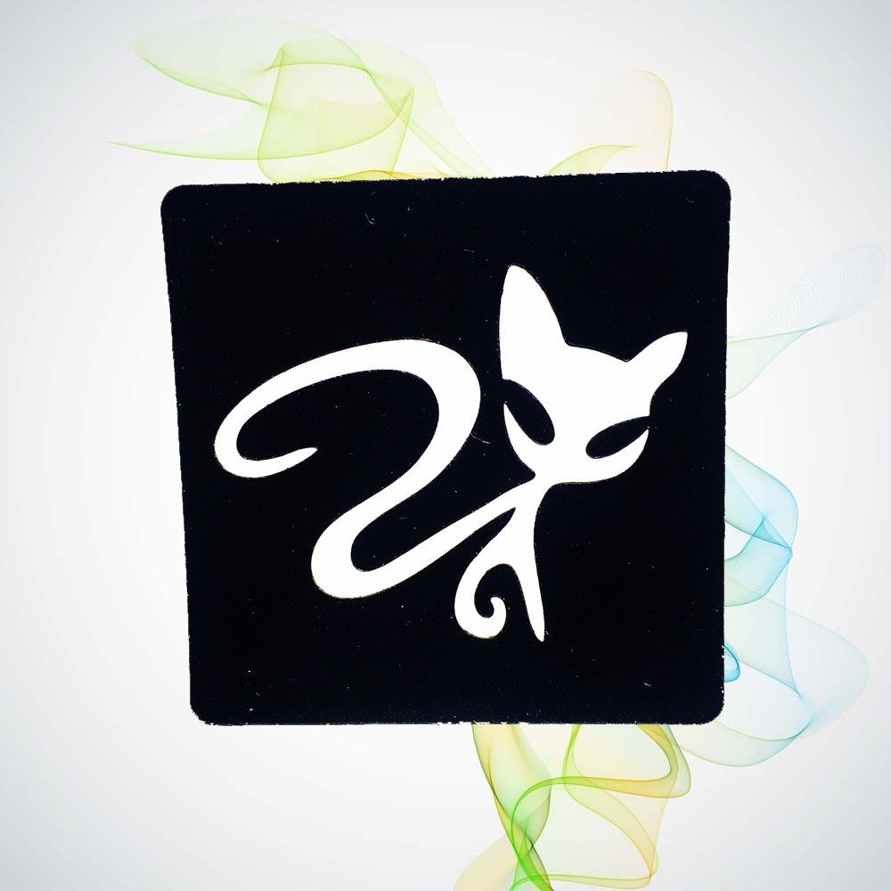 Cat Design Waterproof Tattoo Stencils Fake Body Art Arm Legs Back Neck Tattoo Stickers Template Paste For Airbrush Painting HG63