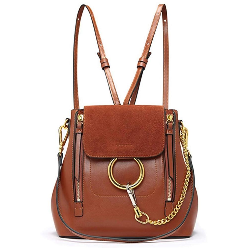 JHD-Women Leather Satchel Cross Body BackpackJHD-Women Leather Satchel Cross Body Backpack