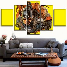 5 Panels Comic Magazine Movie Avengers Infinity War Poster Modern Wall Art Decorative Canvas HD Prints Painting For Living Room