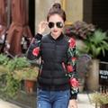Winter women's short design down cotton jacket casual wadded jacket fashion female o-neck jacket