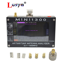 Новое поступление, анализатор внутренней батареи Mini1300 TFT LCD 0,1 1300 МГц HF VHF UHF ANT SWR