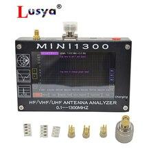新到着Mini1300 tft液晶 0.1 1300mhz hf vhf uhf antのswrアナライザインナーバッテリーメーターアップグレードMINI600 からI3 003