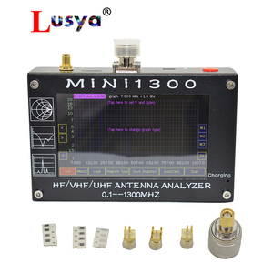 Image 1 - New arrival Mini1300 TFT LCD 0.1 1300MHz HF VHF UHF ANT SWR Antenna Analyzer inner Battery Meter Upgrade From MINI600 I3 003