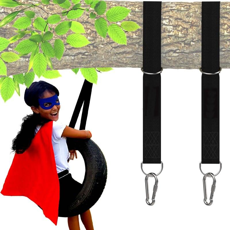 Tree Swing Hanging Straps Kit  with Safer Lock Snap Carabiner Hooks  Tree Swing & Hammocks, Perfect for Swings,Carry Pouch Easy Tree Swing Hanging Straps Kit  with Safer Lock Snap Carabiner Hooks  Tree Swing & Hammocks, Perfect for Swings,Carry Pouch Easy