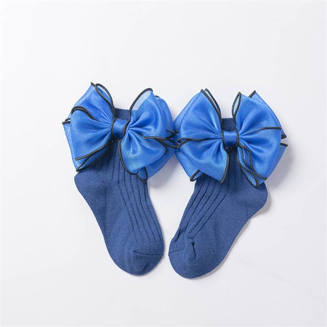 Newborn Baby Short Sock Winter Bow Girl Lace Socks Cotton Princess Socks for Girls Fashion Children Girl Clothes 1 2 3 4 5 6 7 8