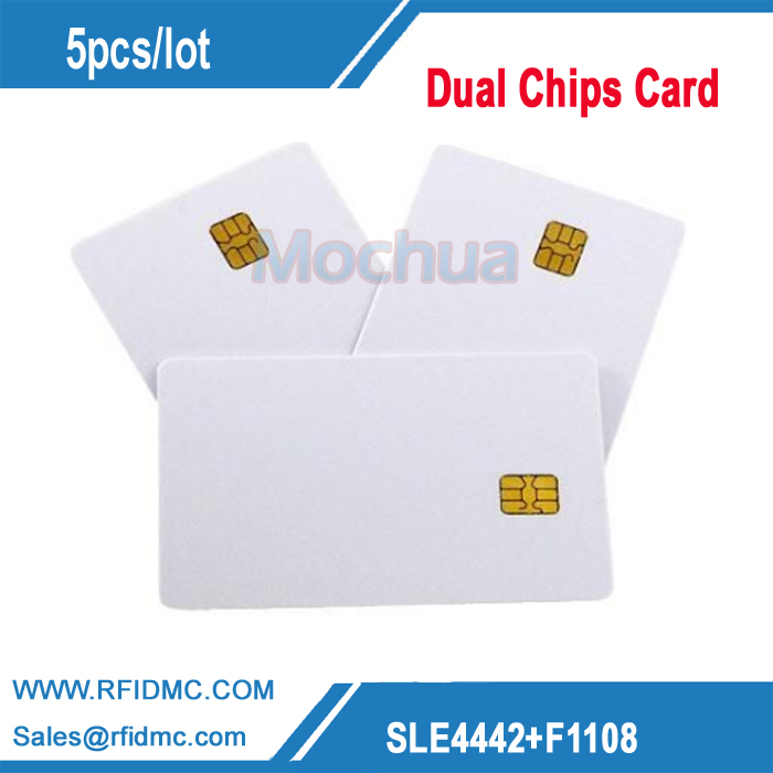 Contact SLE4442  Mifar 1K Dual Chip Card ISO7816 PVC Smart IC Card