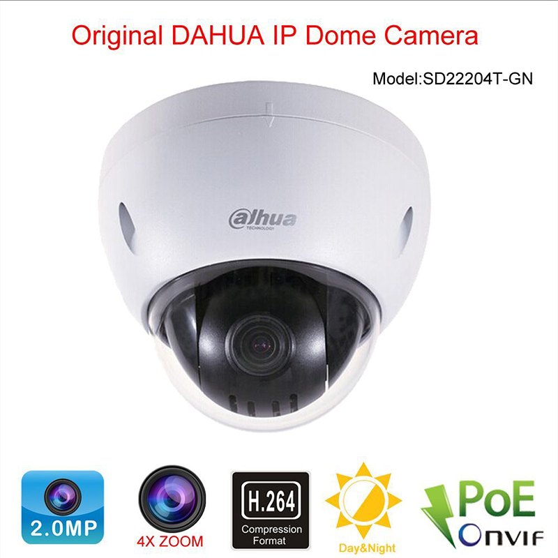 Dahua SD22204T GN Security IP Camera 2 MP Full HD Network Mini PTZ Dome Camera With