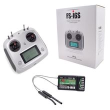 FLY SKY FS-I6S 10ch 2.4G 2A RC Transmitter Control with FS-iA6B Receiver For RC Drone Quadcopter Silver-white