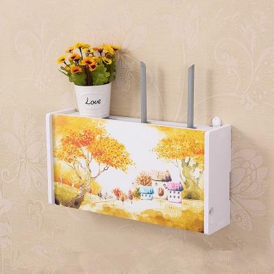 Board-Bracket Storage-Box Wifi-Router-Box Wall-Shelf Hanging-Plug Wireless PVC 24-Style