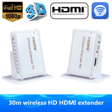 HDMI Wi-fi Transmitter Receiver HDMI Extender 30m/98ft Assist HDMI 1.four 3D Full HD 1080P Appropriate With All HDMI HD Gadgets