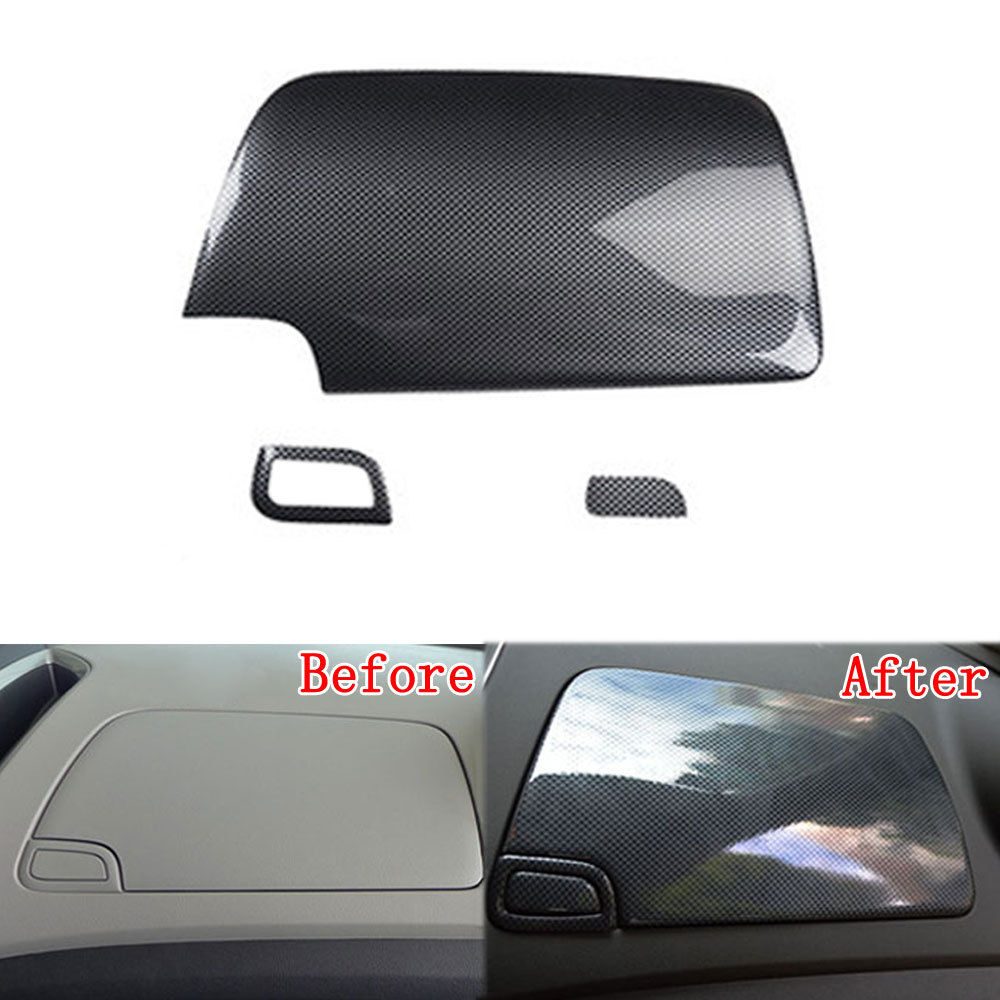 For Chevrolet Trax 2014 2015 2016 1pc ABS Plastic Console Storage Box Panel Cover Trim Carbon Fiber Style Decorative Accessories