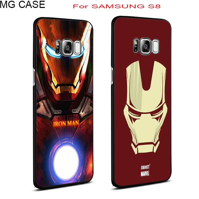 Popular Iron Man Marvel SpiderMan Phone Case Bag For Samsung Galaxy Note8 S6 S6edge S7edge Galaxy S8 S8plus Cover Shell Case Bag