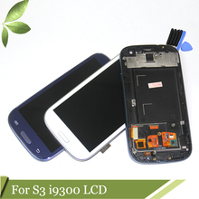 i9300 LCD screen Compatible for samsung s3 i9300 lcd display frame s3 i9300 display Compatible for samsung s3 i9300 LCD
