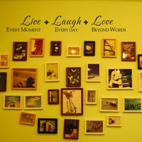 Live Laugh Love Wall Quote Family Vinyl Wall Saying For Family Room Photo Wall Decor 34
