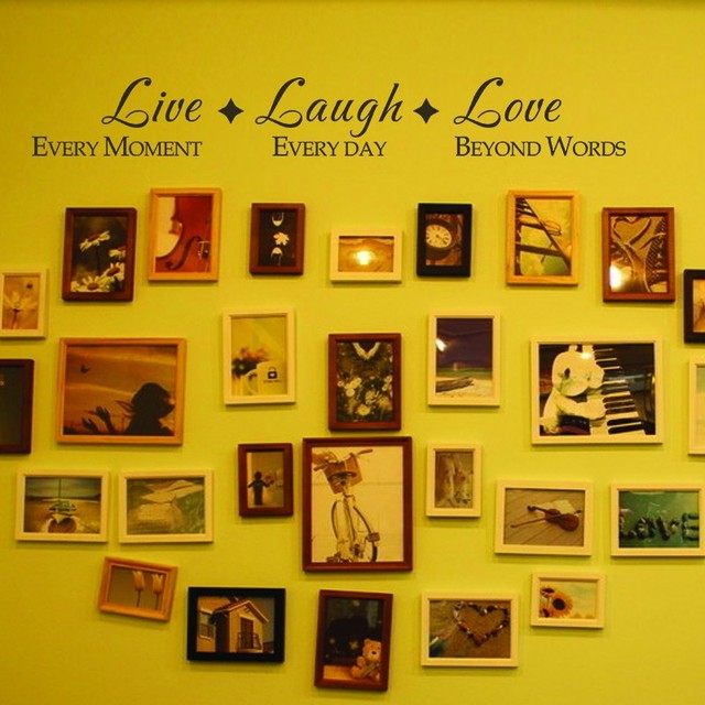 Live Laugh Love Wall Quote Family Vinyl Wall Saying for Family Room ...