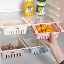 1Pcs Kitchen Refrigerator Storage Box Food Container Fresh Spacer Layer Storage Rack Pull-out Drawers Fresh Sort Organizer недорого