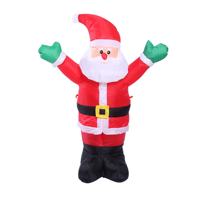 Inflatable xmas santa claus with 3 led lights 4 feet for 4 ft santa claus decoration