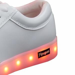 Image 5 - 7ipupas Basket Colorful Luminous sneakers Unisex kids led shoes Homme Femme Lumineuse Schoenen Light Up Chaussures glowing shoes