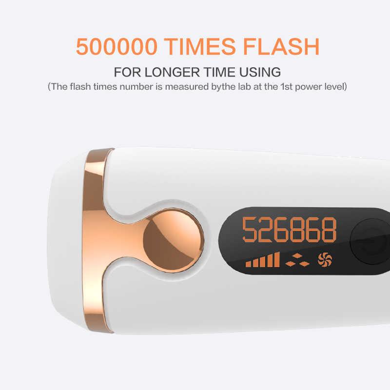 IPL Lazer Epilasyon 500000 Flash lcd ekran Epilatör Kalıcı Bikini Düzeltici Ağrısız Vancostar Elektrik depilador bir lazer