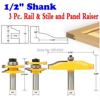 цена на 3 Pc. Rail & Stile and Panel Raiser Router Bit Set - Large Ogee -1/2 Shank- Chwjw 12337