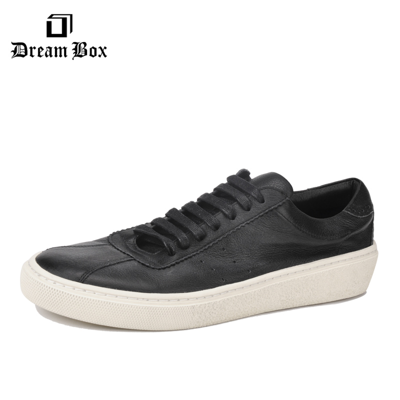 dreambox In summer, the han edition of the real leather breathable retro old system with low help men's casual shoe men's shoes купить