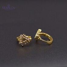 SEANLOV 2018 Gold-Color Earring For Women Engagement Gift Fashion Fancy Zircon Earrings Modern Jewelry drop shipping